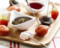 Fondue fraises-chocolat version cocktail