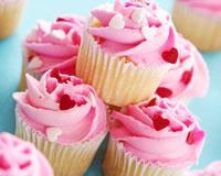 Cupcakes à la vanille et crème à la fraise
